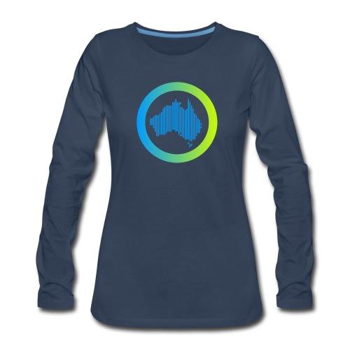 Gradient Symbol Only - Women's Premium Slim Fit Long Sleeve T-Shirt