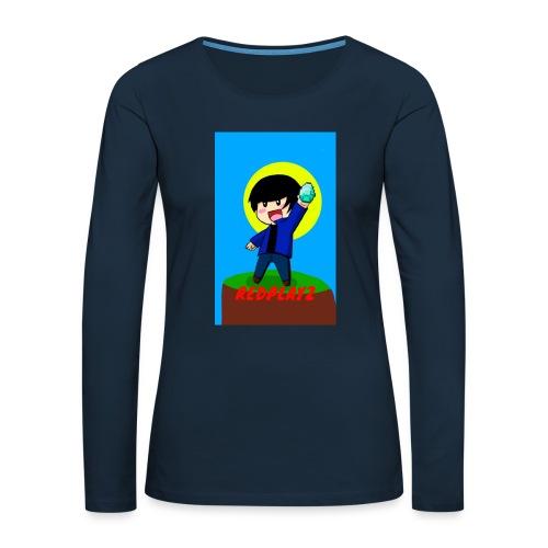 BLUE REDPLAYZ T-SHIRT ORIGINAL DESIGN - Women's Premium Slim Fit Long Sleeve T-Shirt