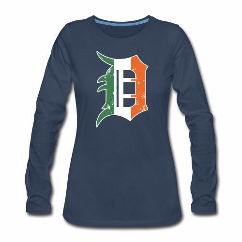 IRISH D - Women's Premium Slim Fit Long Sleeve T-Shirt