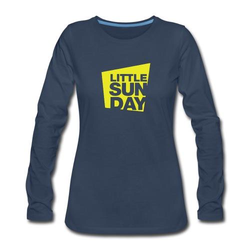 littleSUNDAY Official Logo - Women's Premium Slim Fit Long Sleeve T-Shirt