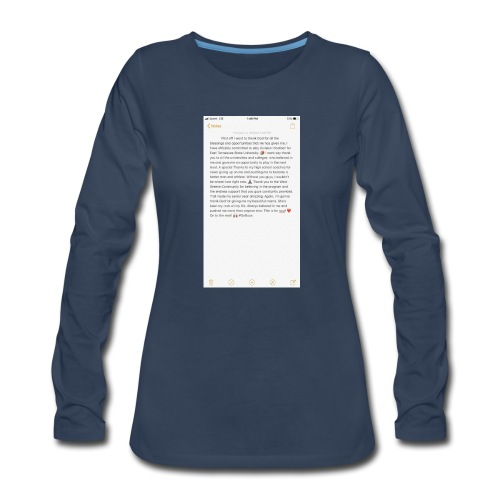 Text from a Football Commit - Women's Premium Long Sleeve T-Shirt