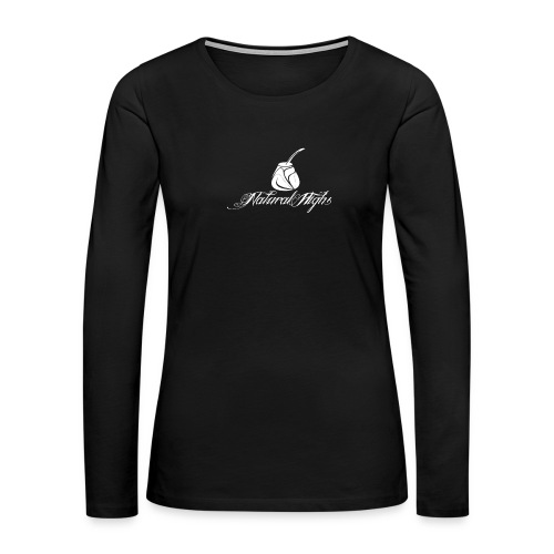 Natural Highs Logo In White - Women's Premium Slim Fit Long Sleeve T-Shirt