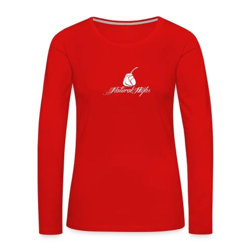 Natural Highs Logo In White - Women's Premium Slim Fit Long Sleeve T-Shirt