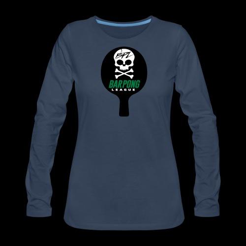 Bar Pong Paddle Logo - Women's Premium Long Sleeve T-Shirt
