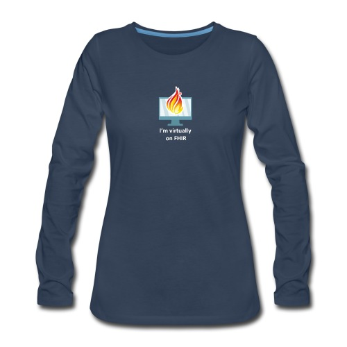 HL7 FHIR DevDays 2020 - Desktop - Women's Premium Slim Fit Long Sleeve T-Shirt