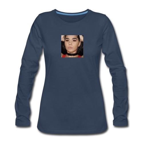 Orange & Black Cut Crease - Women's Premium Long Sleeve T-Shirt