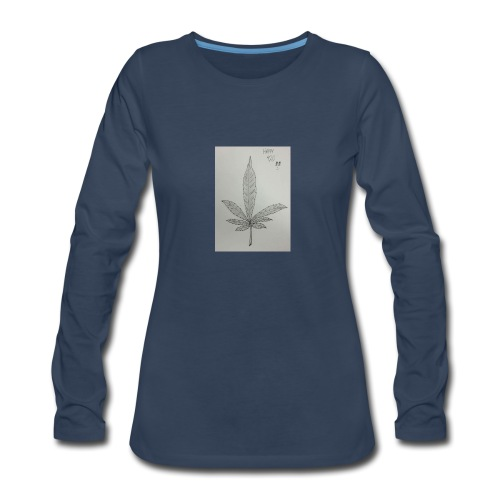 Happy 420 - Women's Premium Slim Fit Long Sleeve T-Shirt
