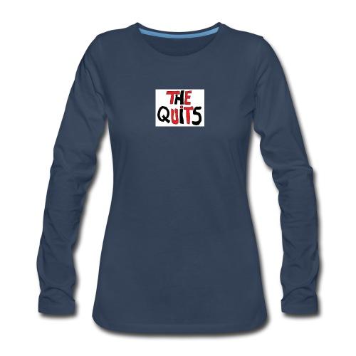 quits logo - Women's Premium Long Sleeve T-Shirt