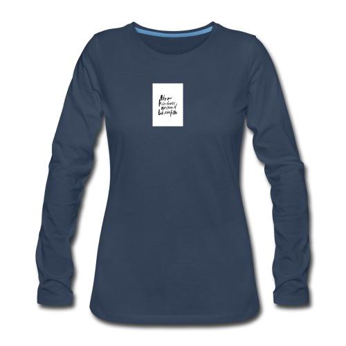 Throw kindness around - Women's Premium Long Sleeve T-Shirt
