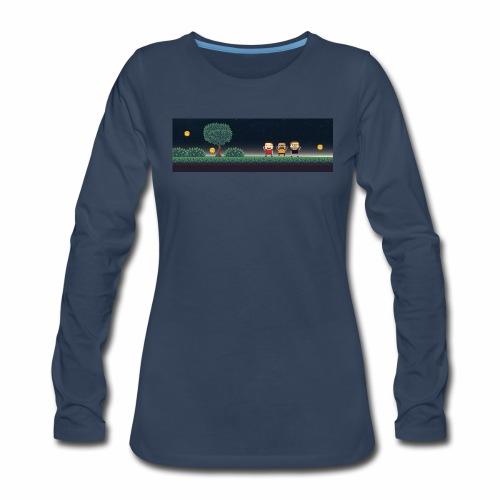 Twitter Header 01 - Women's Premium Long Sleeve T-Shirt