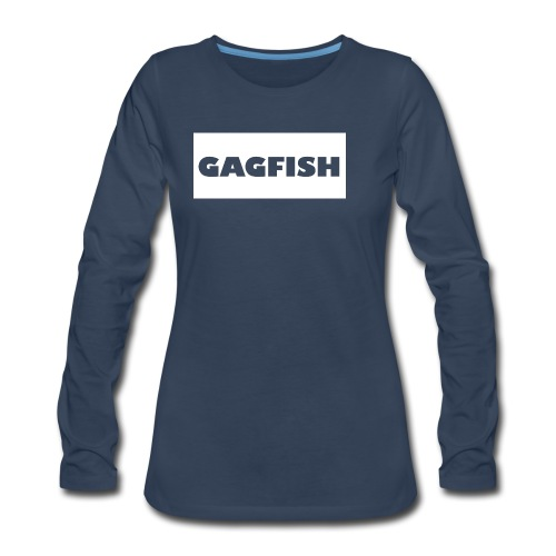 GAGFISH WIGHT LOGO - Women's Premium Long Sleeve T-Shirt