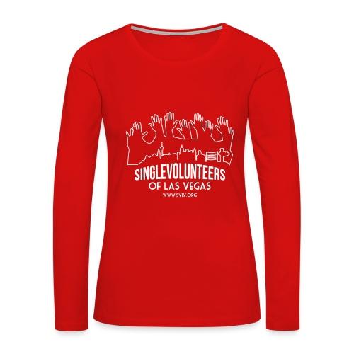 White logo SVLV - Women's Premium Long Sleeve T-Shirt