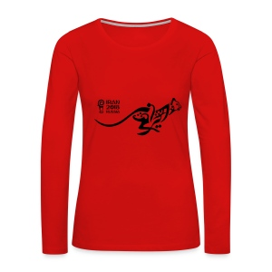 Running Cheetah - Women's Premium Long Sleeve T-Shirt