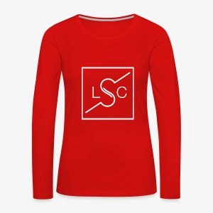 Logo White Print - Women's Premium Long Sleeve T-Shirt