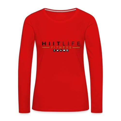 HLFLogosocial - Women's Premium Slim Fit Long Sleeve T-Shirt