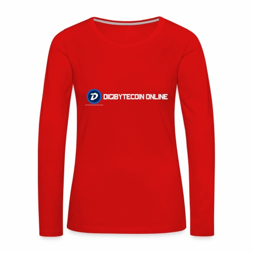Digibyte online light - Women's Premium Slim Fit Long Sleeve T-Shirt