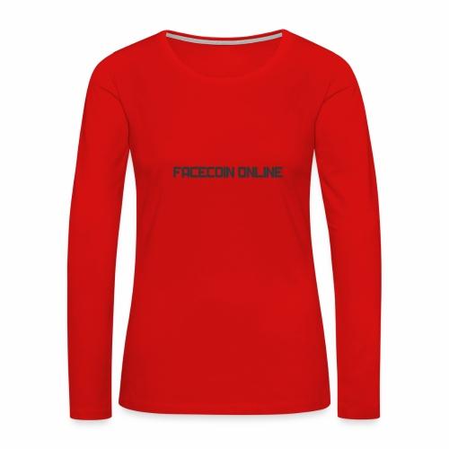 facecoin online dark - Women's Premium Slim Fit Long Sleeve T-Shirt
