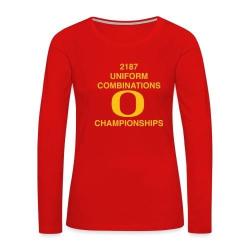 2187 UNIFORM COMBINATIONS O CHAMPIONSHIPS - Women's Premium Slim Fit Long Sleeve T-Shirt