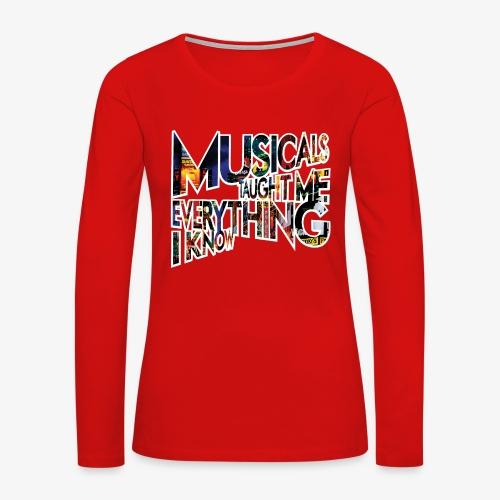 MTMEIK Broadway - Women's Premium Slim Fit Long Sleeve T-Shirt