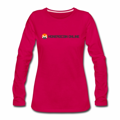 monerocoin online dar - Women's Premium Long Sleeve T-Shirt