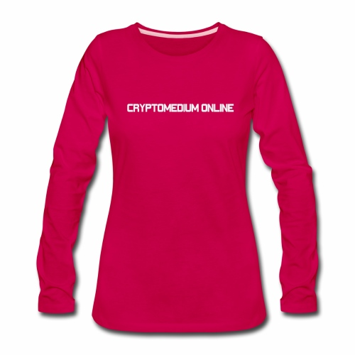 cryptomedium logo light - Women's Premium Long Sleeve T-Shirt