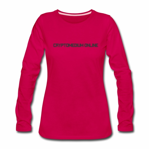 Cryptomedium logo dark - Women's Premium Long Sleeve T-Shirt