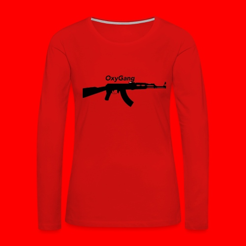 OxyGang: AK-47 Products - Women's Premium Slim Fit Long Sleeve T-Shirt