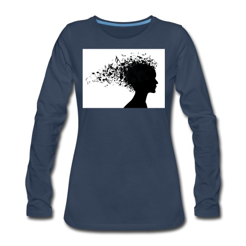 music through my head - Women's Premium Long Sleeve T-Shirt