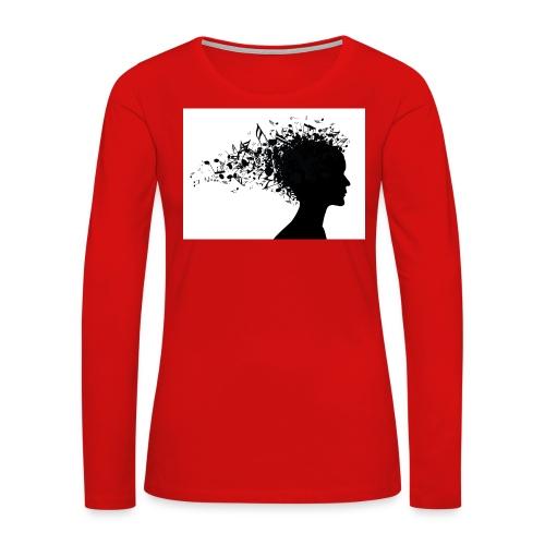 music through my head - Women's Premium Long Sleeve T-Shirt