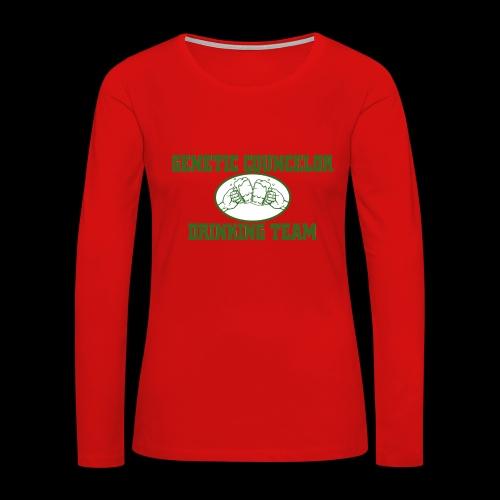 genetic counselor drinking team - Women's Premium Slim Fit Long Sleeve T-Shirt