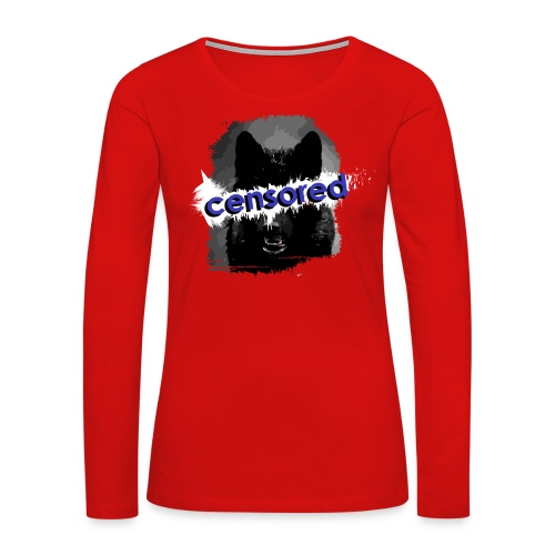 Wolf censored - Women's Premium Long Sleeve T-Shirt