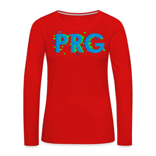 PRG distorted Neon libertarian Design - Women's Premium Long Sleeve T-Shirt