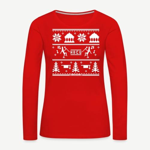 HBCU Ugly Christmas Sweater - Women's Premium Long Sleeve T-Shirt