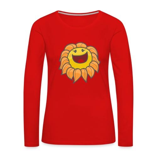 Happy sunflower - Women's Premium Slim Fit Long Sleeve T-Shirt