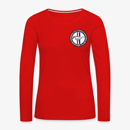 Victoria Mustang Club Logo - Women's Premium Slim Fit Long Sleeve T-Shirt