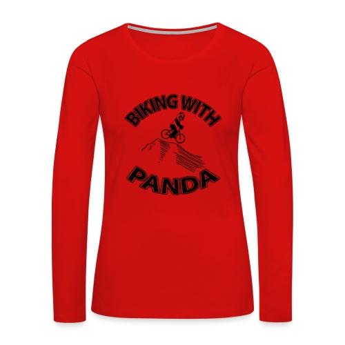 Biking with Panda - Women's Premium Long Sleeve T-Shirt