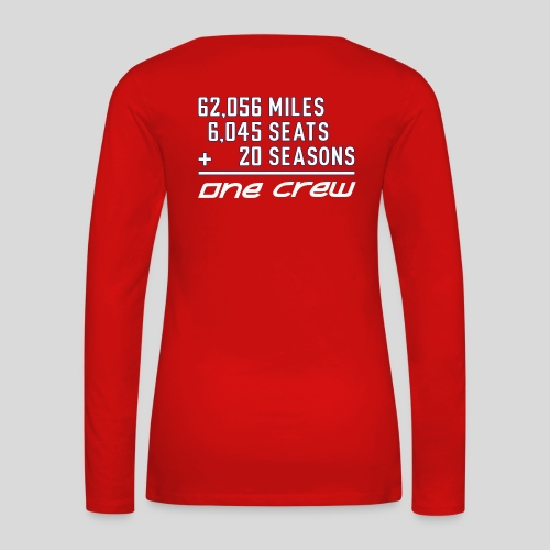 20th Season red - Women's Premium Slim Fit Long Sleeve T-Shirt