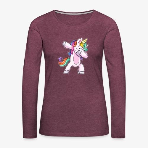DABBING UNICORN Kid - Women's Premium Long Sleeve T-Shirt