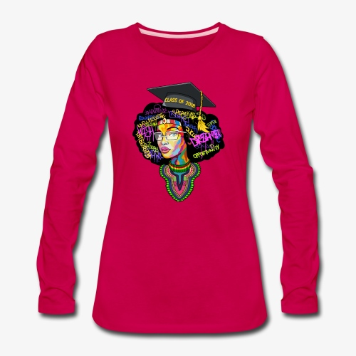 Melanin Queen Shirt - Women's Premium Long Sleeve T-Shirt