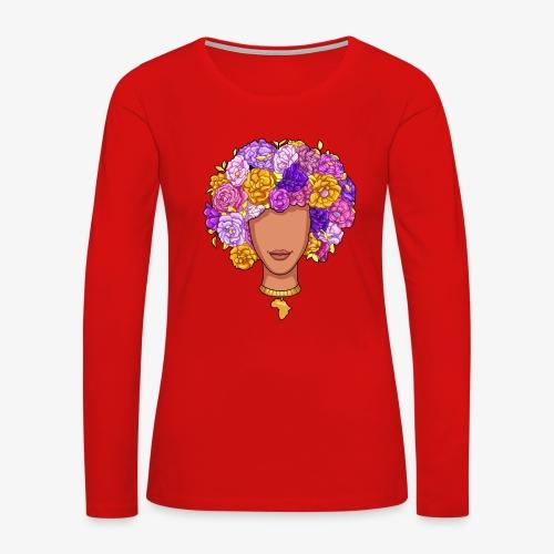 Flower Woman - Women's Premium Long Sleeve T-Shirt