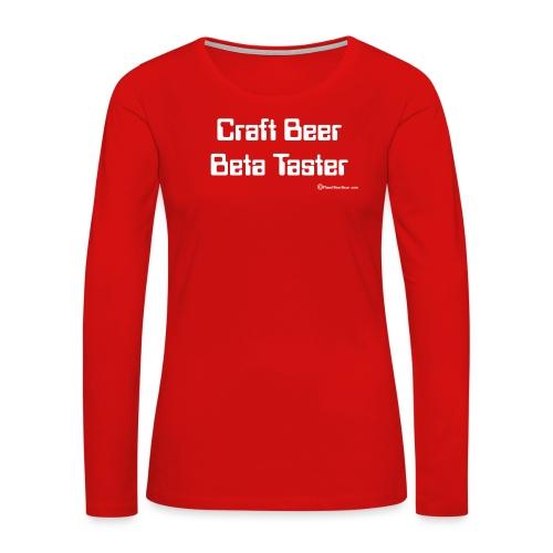 Craft Beer Beta Taster white png - Women's Premium Long Sleeve T-Shirt