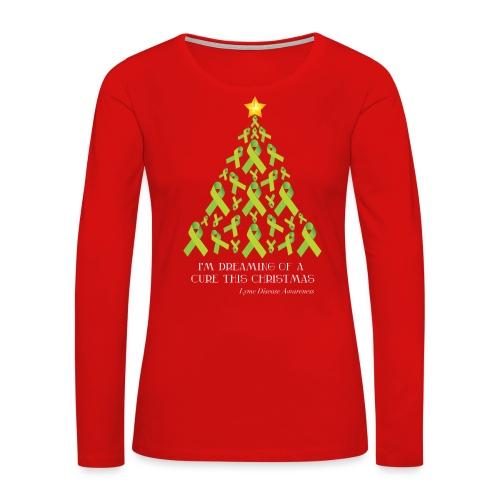 Lyme Free Christmas - Women's Premium Slim Fit Long Sleeve T-Shirt