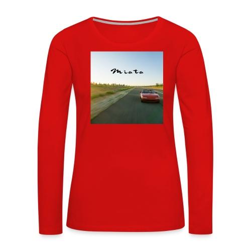 Miata Zen - Women's Premium Slim Fit Long Sleeve T-Shirt