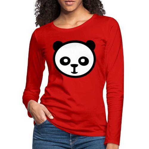 Panda bear, Big panda, Giant panda, Bamboo bear - Women's Premium Slim Fit Long Sleeve T-Shirt