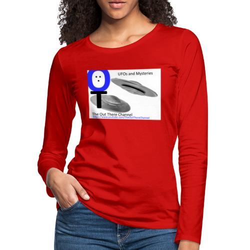 Outthere UtubeLogo2017 with Crew Back Logo - Women's Premium Slim Fit Long Sleeve T-Shirt