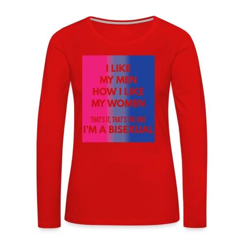 Bisexual - Bi - LGBT - Gay Pride - Gift - Women's Premium Long Sleeve T-Shirt