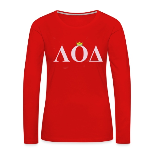 Crown Pink Letters - Women's Premium Long Sleeve T-Shirt