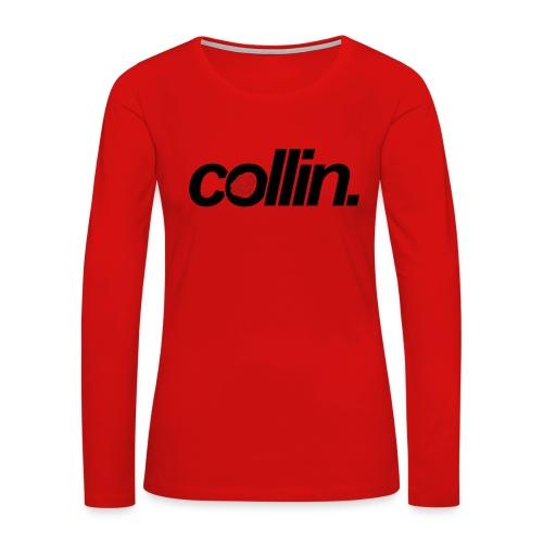 Collin. (Black w/ Rose) - Women's Premium Long Sleeve T-Shirt