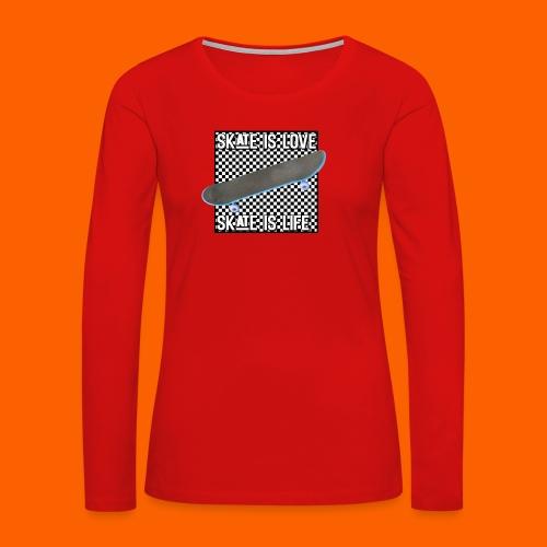 SK8 is Love - Women's Premium Long Sleeve T-Shirt