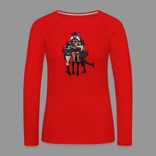 Goth Dolls - Women's Premium Slim Fit Long Sleeve T-Shirt